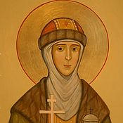 Картины и панно handmade. Livemaster - original item Icon of St.Olga of Kiev (hand painted).. Handmade.