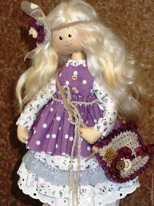 Коллекционные куклы ручной работы. Ярмарка Мастеров - ручная работа. Купить Акулина. Handmade. Сиреневый, авторская кукла, коллекционная кукла