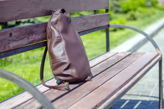 Рюкзаки ручной работы. Ярмарка Мастеров - ручная работа. Купить Коричневый рюкзак. Handmade. Коричневый, коричневый рюкзак, кожаный рюкзак
