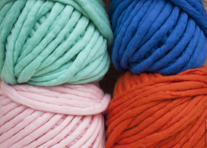 толстая пряжа для ручного вязания меринос