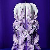 Для дома и интерьера ручной работы. Ярмарка Мастеров - ручная работа Резная свеча №302. Handmade.