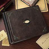 Фотоальбомы ручной работы. Ярмарка Мастеров - ручная работа Кожаный фотоальбом «Родословная» 25х30 см. Handmade.