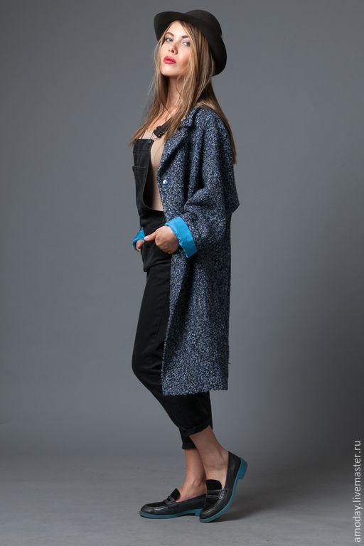 Пальто оверсайз из шерстяной ткани букле под шанель итальянских производителей. Пальто демисезонное AMODAY. Нажимайте увеличение, чтобы рассмотреть.