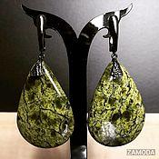 Украшения handmade. Livemaster - original item Serpentinite coil earrings. Handmade.