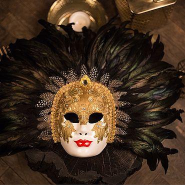 Для дома и интерьера ручной работы. Ярмарка Мастеров - ручная работа Венецианская карнавальная маска «С широко закрытыми глазами». Handmade.