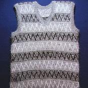 Одежда handmade. Livemaster - original item Knitted vest Double. Handmade.