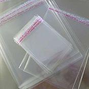 Материалы для творчества ручной работы. Ярмарка Мастеров - ручная работа Пакеты прозрачные упаковочные со скотчем 8 размеров Пакеты упаковочные. Handmade.