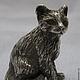 """Статуэтки ручной работы. Ярмарка Мастеров - ручная работа. Купить Серебряная фигурка """"Котёнок"""". Handmade. Кот, котята"""