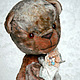 Мишки Тедди ручной работы. Ярмарка Мастеров - ручная работа. Купить Миш тедди Людовик - (купить тедди, мятный, серый). Handmade.