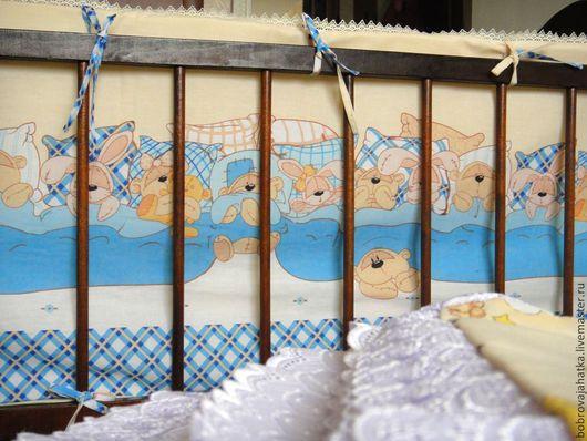 Детская ручной работы. Ярмарка Мастеров - ручная работа. Купить Бортики в кроватку для новорожденных Бампер Постельное белье малыша. Handmade.