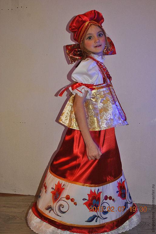 Одежда ручной работы. Ярмарка Мастеров - ручная работа. Купить Костюм русский народный стилизованный для девочки. Handmade. Для девочки