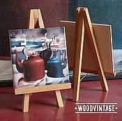 Картины и панно ручной работы. Ярмарка Мастеров - ручная работа Пейзаж Натюрморт с чайниками (Чайники на снегу)) Авторская печать. Handmade.