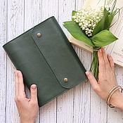 Канцелярские товары handmade. Livemaster - original item Notebook leather A5 on the rings. Handmade.