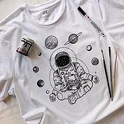 Сувениры и подарки handmade. Livemaster - original item Hand painted t-shirt. Handmade.