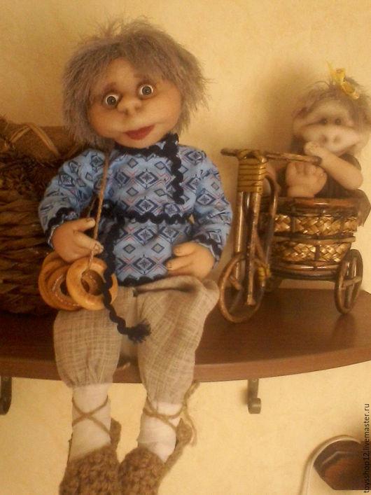 Сказочные персонажи ручной работы. Ярмарка Мастеров - ручная работа. Купить Текстильная кукла - домовенок. Handmade. Текстильная игрушка, капрон