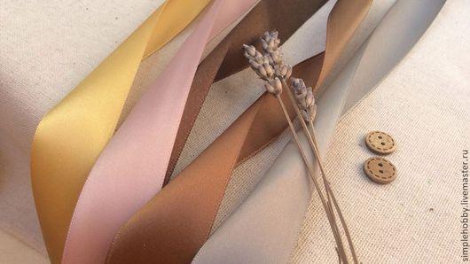 Шитье ручной работы. Ярмарка Мастеров - ручная работа. Купить Лента атласная, 5 цветов. Handmade. Лента, ленты для кукол