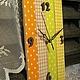 """Часы для дома ручной работы. Ярмарка Мастеров - ручная работа. Купить Часы настенные """"Летний день"""". Handmade. Часы, клетка"""