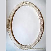 Зеркала ручной работы. Ярмарка Мастеров - ручная работа Резная деревянная рама для зеркала овальная 80х60 см. Handmade.