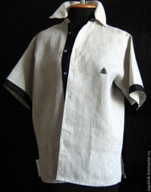 Для мужчин, ручной работы. Ярмарка Мастеров - ручная работа. Купить Льняная мужская рубашка.. Handmade. Рубашка, мужские рубашки