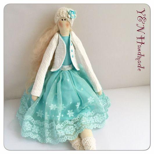 Куклы Тильды ручной работы. Ярмарка Мастеров - ручная работа. Купить Куколка Тильда нежная снегурочка❄️. Handmade. Тильда