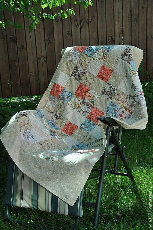 Текстиль, ковры ручной работы. Ярмарка Мастеров - ручная работа. Купить Летнее лоскутное одеялко 120х150. Handmade. Квилтинг и пэчворк