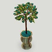 Цветы и флористика handmade. Livemaster - original item Tree from malachite