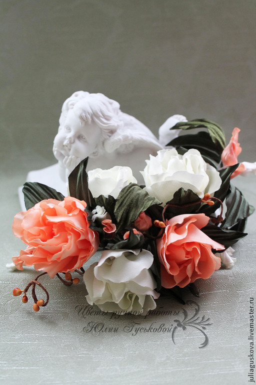 Свадебные украшения ручной работы. Ярмарка Мастеров - ручная работа. Купить Украшение в прическу. Handmade. Кремовый, украшение для волос