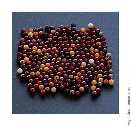 Для украшений ручной работы. Ярмарка Мастеров - ручная работа. Купить Яшма мукаит, бусины, -очень- мелкие бусины. Handmade.