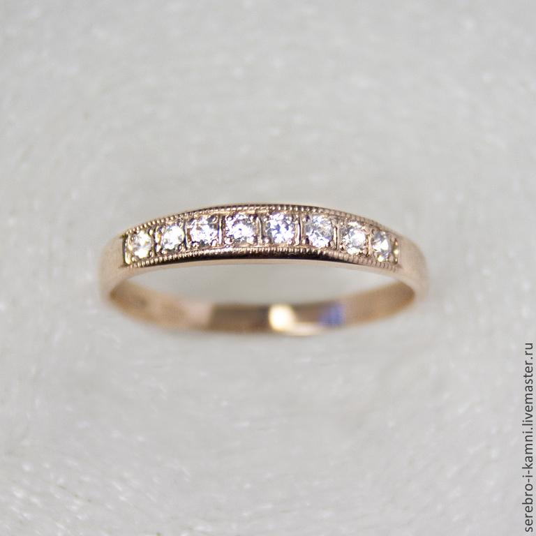 золотое кольцо дорожка с фианитами