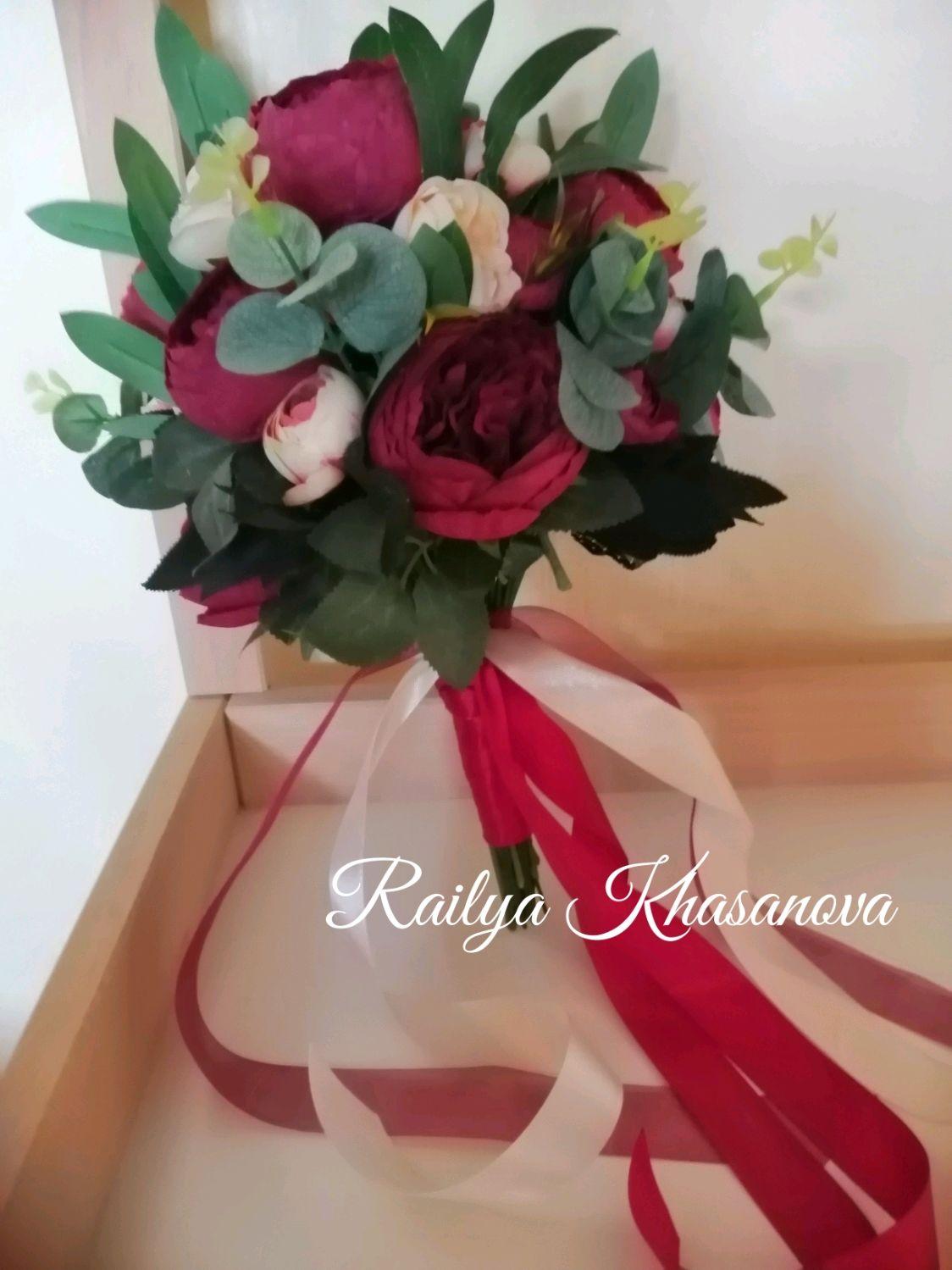 """Букет невесты в цвете """"Марсала"""" (дублер), Свадебные букеты, Самара,  Фото №1"""