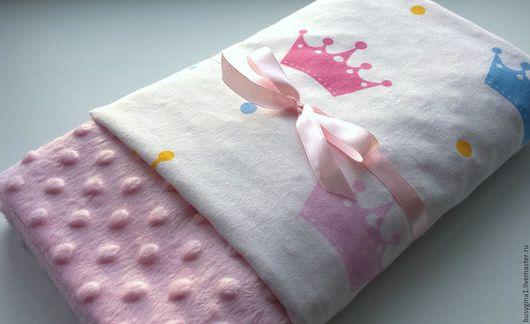 """Текстиль, ковры ручной работы. Ярмарка Мастеров - ручная работа. Купить Плед детский """"Короны"""". Handmade. Плед для новорожденного"""