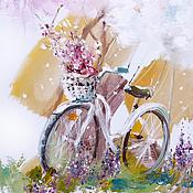 Картины и панно ручной работы. Ярмарка Мастеров - ручная работа Spring bicycle for you. Handmade.