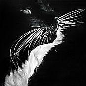 Картины и панно ручной работы. Ярмарка Мастеров - ручная работа Белый воротничок (24 х 30 см). Handmade.