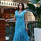 """Платья ручной работы. валяное летнее платье """" Голубая вода"""". KiEra. Ярмарка Мастеров. Шелковое платье, шёлк натуральный"""