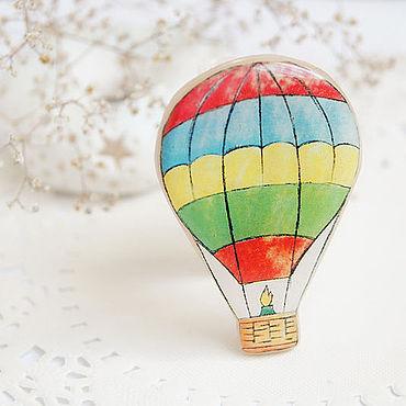 """Украшения ручной работы. Ярмарка Мастеров - ручная работа Брошка для путешественнницы """"Воздушный шар"""". Handmade."""