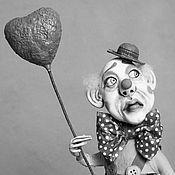 Куклы и игрушки ручной работы. Ярмарка Мастеров - ручная работа Клоун с обезьянкой. Handmade.