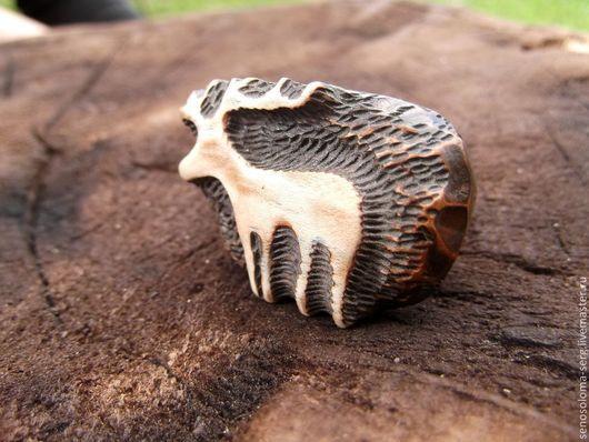 """Кольца ручной работы. Ярмарка Мастеров - ручная работа. Купить Кольцо """"Олень"""". Handmade. Кольцо крупное, резьба по дереву"""