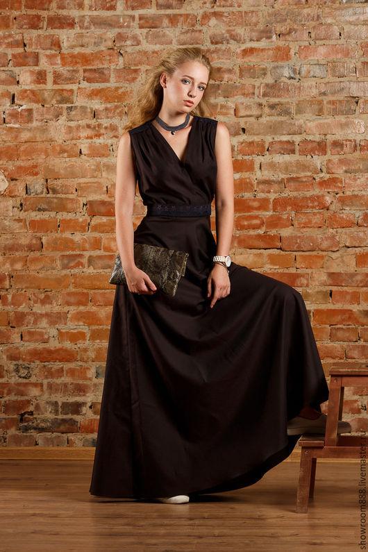 Платья ручной работы. Ярмарка Мастеров - ручная работа. Купить Платье Шоколад.. Handmade. Чёрно-белый, платье летнее