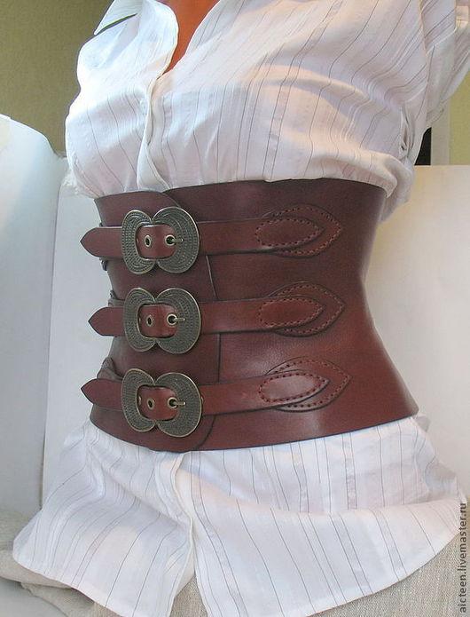 Пояса, ремни ручной работы. Ярмарка Мастеров - ручная работа. Купить Викторианский стиль корсетный пояс. Handmade. Коралловый