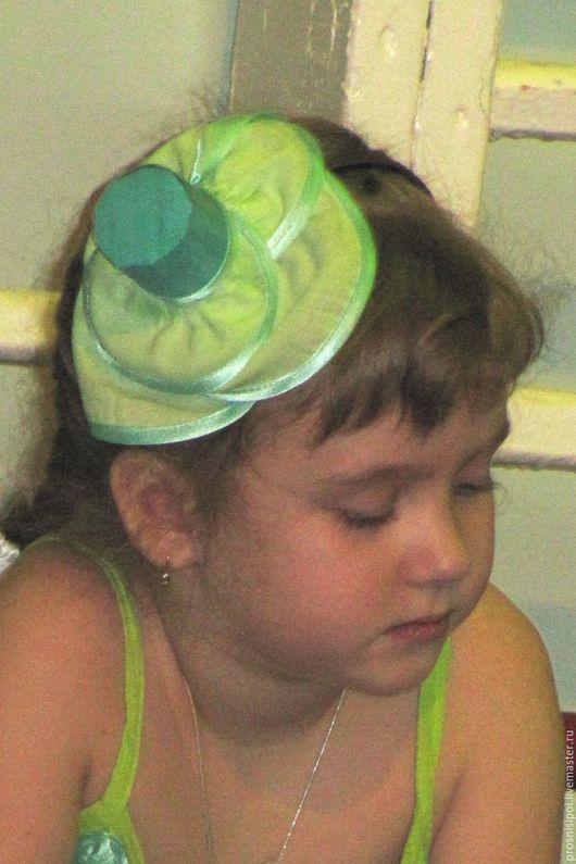 Детские карнавальные костюмы ручной работы. Ярмарка Мастеров - ручная работа. Купить шляпка для капусты. Handmade. Зеленый, шляпка