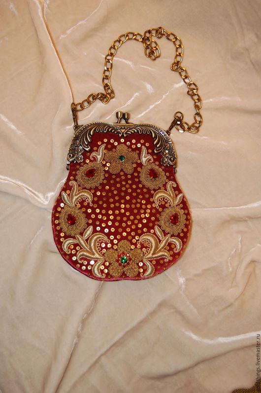 Золотное шитье. Вечерняя сумочка.