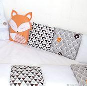 Для дома и интерьера handmade. Livemaster - original item Bumpers in the crib. Handmade.