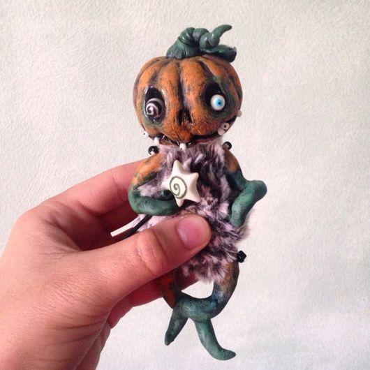 Куклы и игрушки ручной работы. Ярмарка Мастеров - ручная работа. Купить Тыковка. Дух Хэллоуина. Pumpkin. Handmade. Тыквоголовка, тыквы
