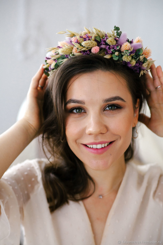 Венок из сухоцветов, Свадебные аксессуары, Санкт-Петербург,  Фото №1