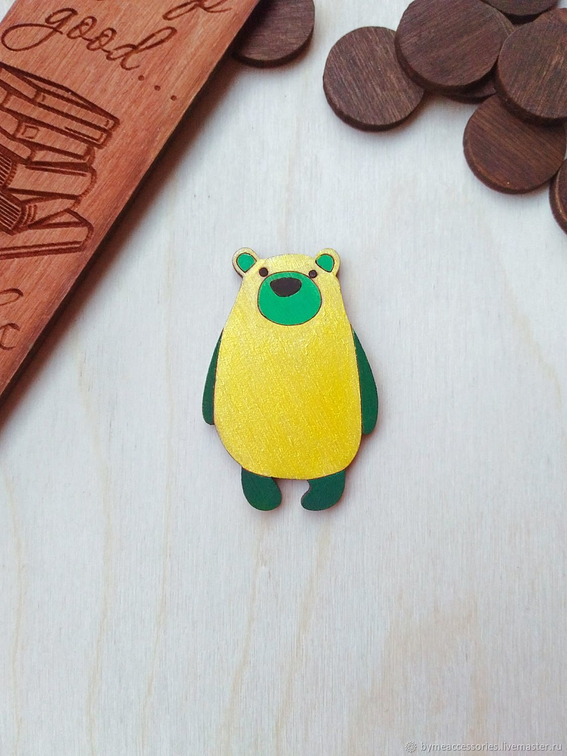 Icon wooden 'Bear', Badge, Permian,  Фото №1