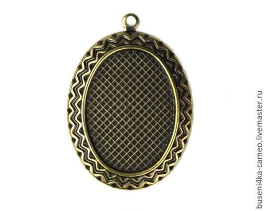 Для украшений ручной работы. Ярмарка Мастеров - ручная работа. Купить Оправа Узор 18х25мм, античная бронза (1шт). Handmade.