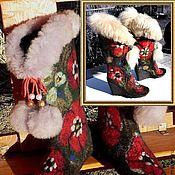 """Обувь ручной работы. Ярмарка Мастеров - ручная работа Валенки . Валенки для улицы женские """"Русский сувенир-2"""". Handmade."""