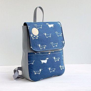 Работы для детей, ручной работы. Ярмарка Мастеров - ручная работа Детский рюкзак для мальчика синий с собакой от 3 5 лет. Handmade.