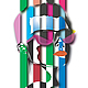Абстракция ручной работы. Ярмарка Мастеров - ручная работа. Купить Аппликационный лик 01. Handmade. Ярко-красный, синий, пластик