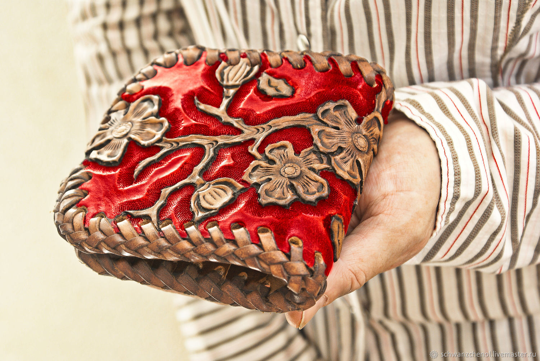 Wallet leather 'Japanese Sakura' color, Wallets, Krasnodar,  Фото №1